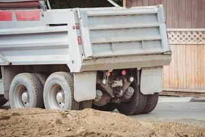 Dumper truck at construction site