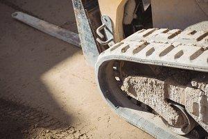 Caterpillar track of bulldozer