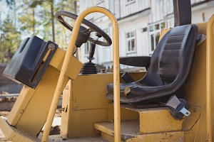 Driving seat of a bulldozer