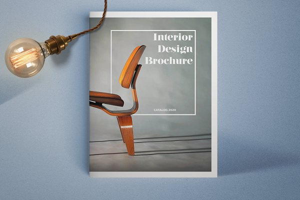 Brochure templates creative market for Interior design brochure