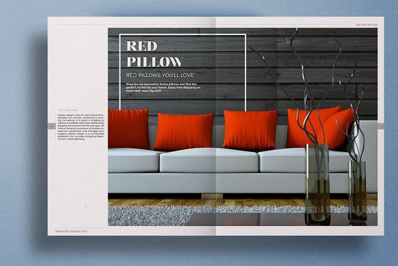 Interior Design Brochure Creative Indesign Templates Creative Market
