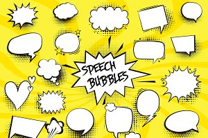 Comic Speech Bubbles Set Collection