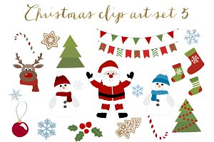 Christmas clipart set 5