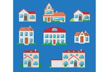 Houses icons set.