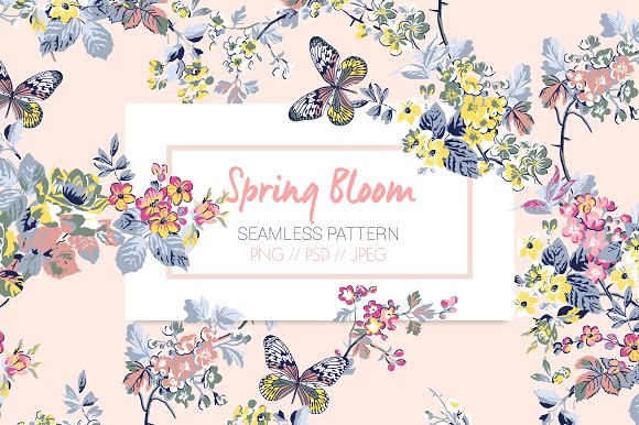 Spring Bloom Print Pattern
