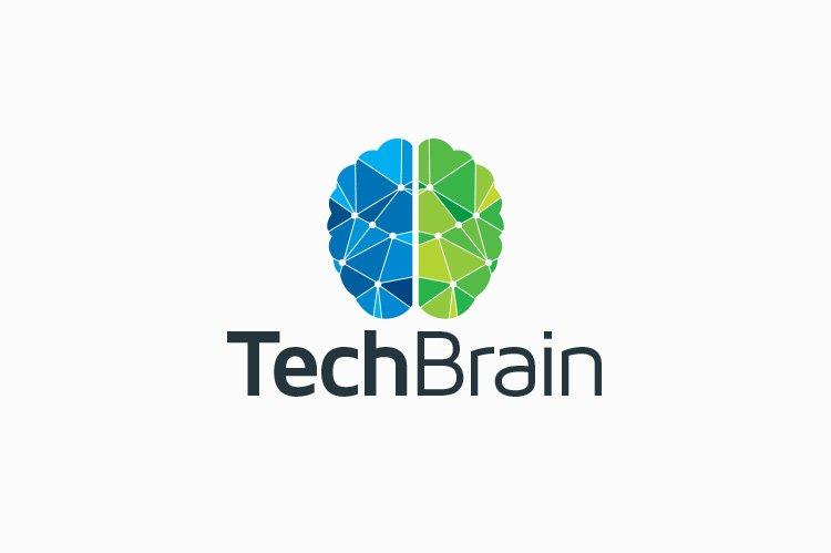 Tech Brain Logo Logo Templates Creative Market Pro