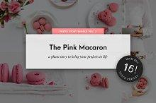 Food Stock Photo Pack Pink Macarons