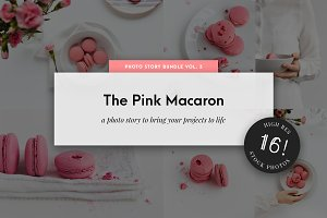 Food Stock Photo Pack Pink Macarons