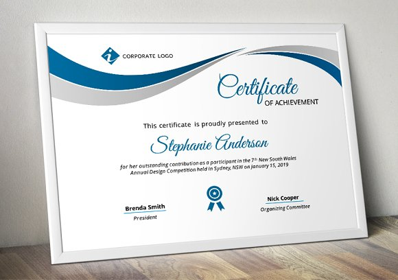 corporate pptx certificate template stationery templates