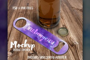 Bar bottle opener scene mockup