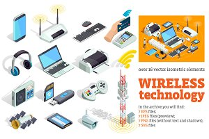 Wireless Technology Isometric Set