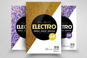 Electro Futuristic Flyer Templates