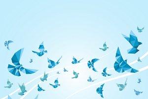 Origami paper doves