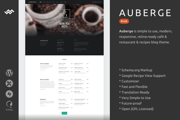 Auberge Plus | WordPress Theme ~ WordPress Minimal Themes ~ Creative ...
