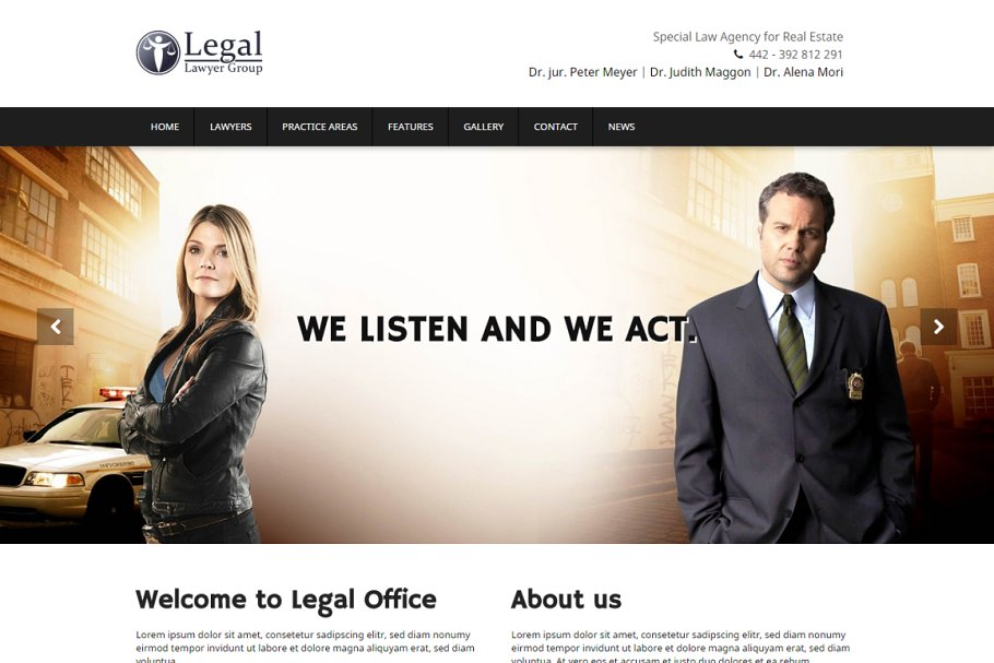9 Law Firm WordPress Themes & Templates