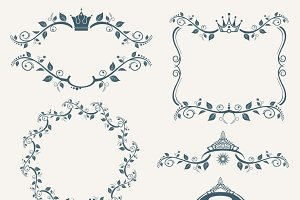 Vintage royalty frames set