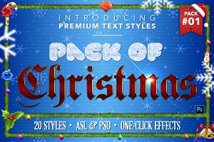 Christmas Pack #1 - Text Styles