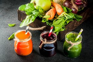 Vegetable juice and smoothie