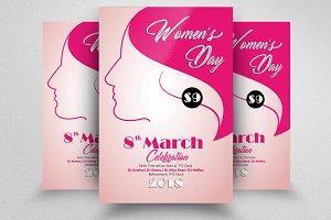 Women's Day Flyer PSD Template