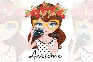 Girl İllustration/Photographer girl
