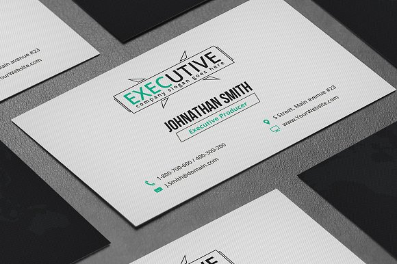 Executive business card business card templates creative market reheart Gallery