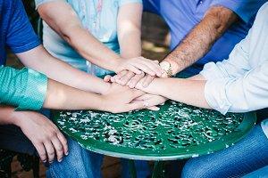 Stock Image Family Huddle