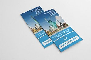 Trifold brochure for travel V71