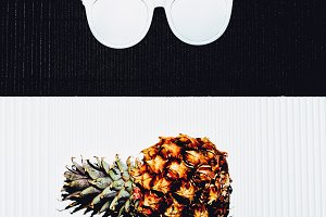 Pineapple and sunglasses.