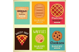 Bakery Shop Posters Set