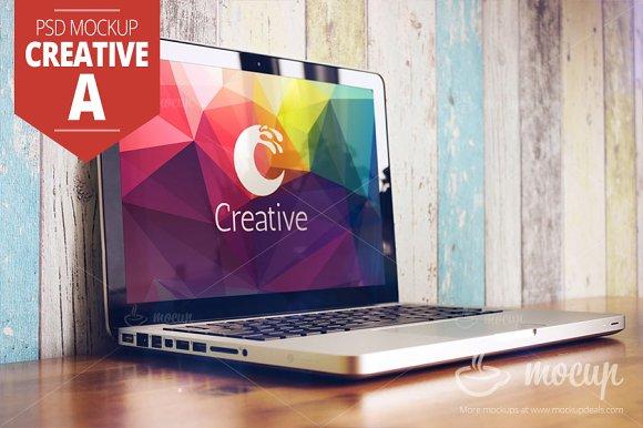 MacBook PSD Mockup Creative A