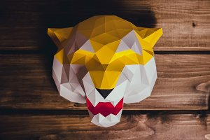 DIY Head Tiger 3D model template