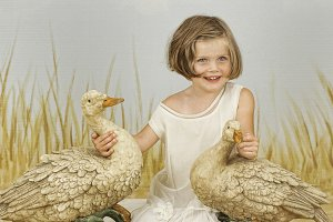 Young Girl with Geese