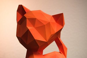 DIY Kitty 3D model template