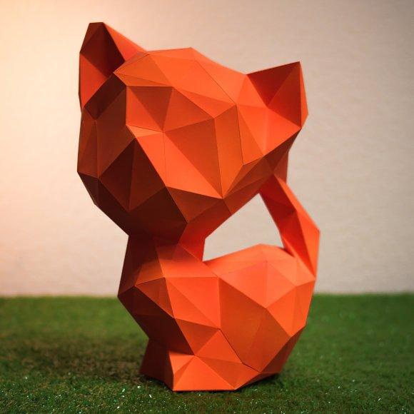 DIY Kitty 3D Model Template