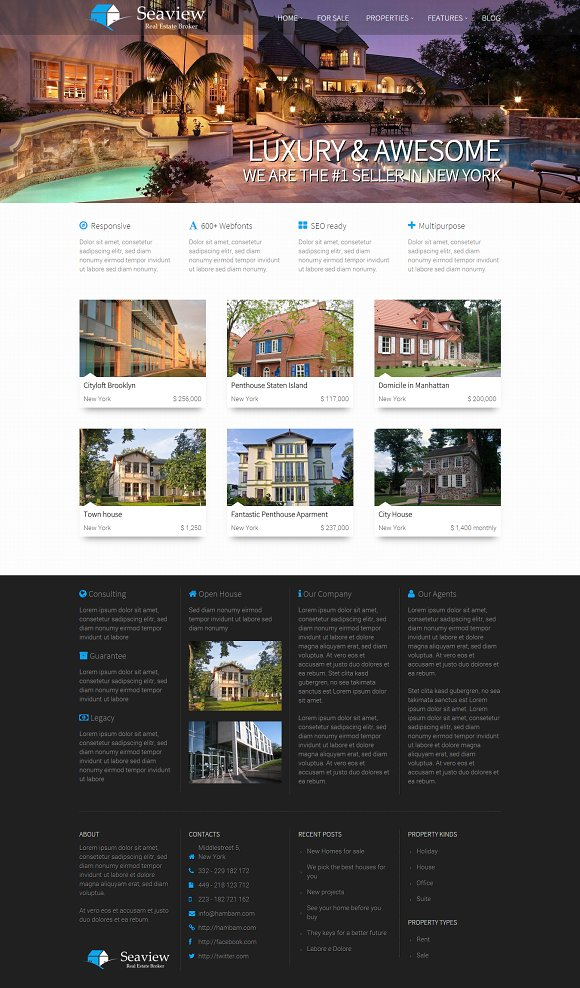 Seaview - Real Estate WordPress
