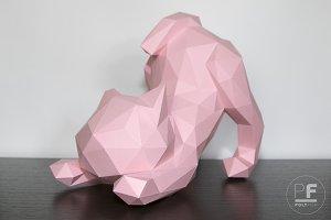 DIY Stretch Cat 3D model template