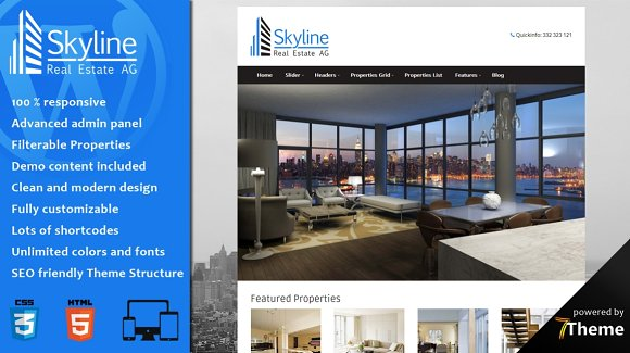 Skyline - Real Estate WordPress
