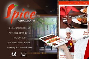 Spice - Restaurant WordPress Theme