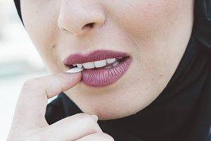 Sexy plump lips