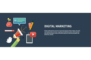 Icons for digital marketing