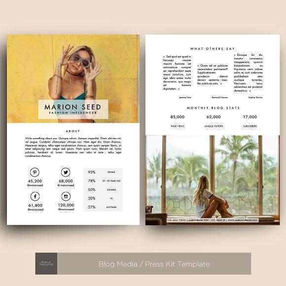 Blog Media Press Kit Template