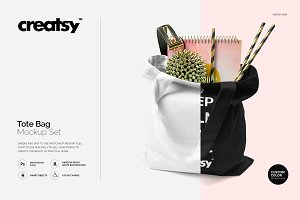 Tote Bag Mockup Set