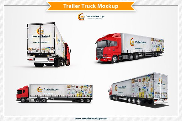 Download Trailer Truck Mockup