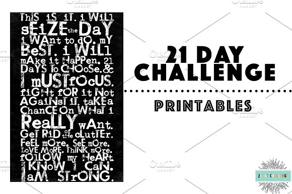 21 Day Challenge Printables