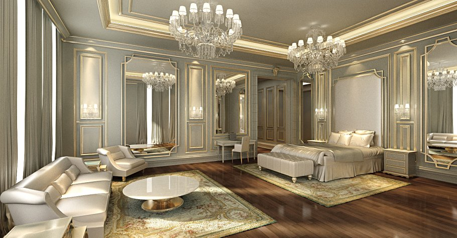 Beautiful Classical Bedroom 3Ds Max