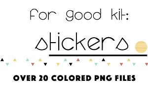 For Good: Design Stickers