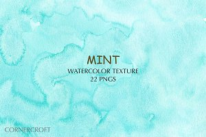 Watercolor Mint Texture