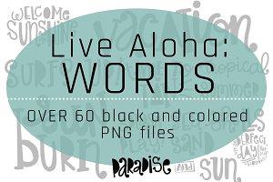Live Aloha: Word Art