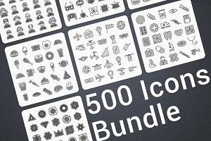 500 Modern Icons Bundle SALE -84%
