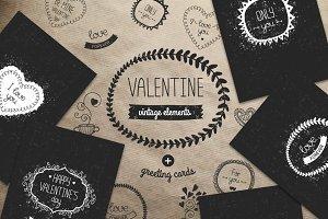 Valentine vintage elements